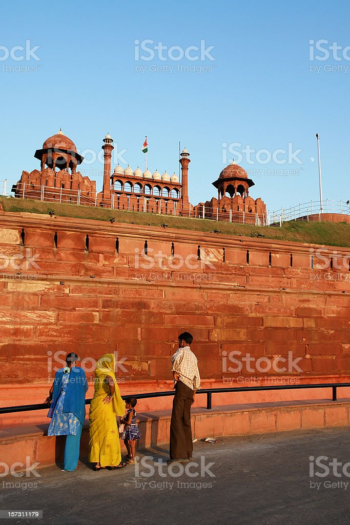 Red Fort (Lal Qil'ah) in Delhi, India royalty-free stock photo
