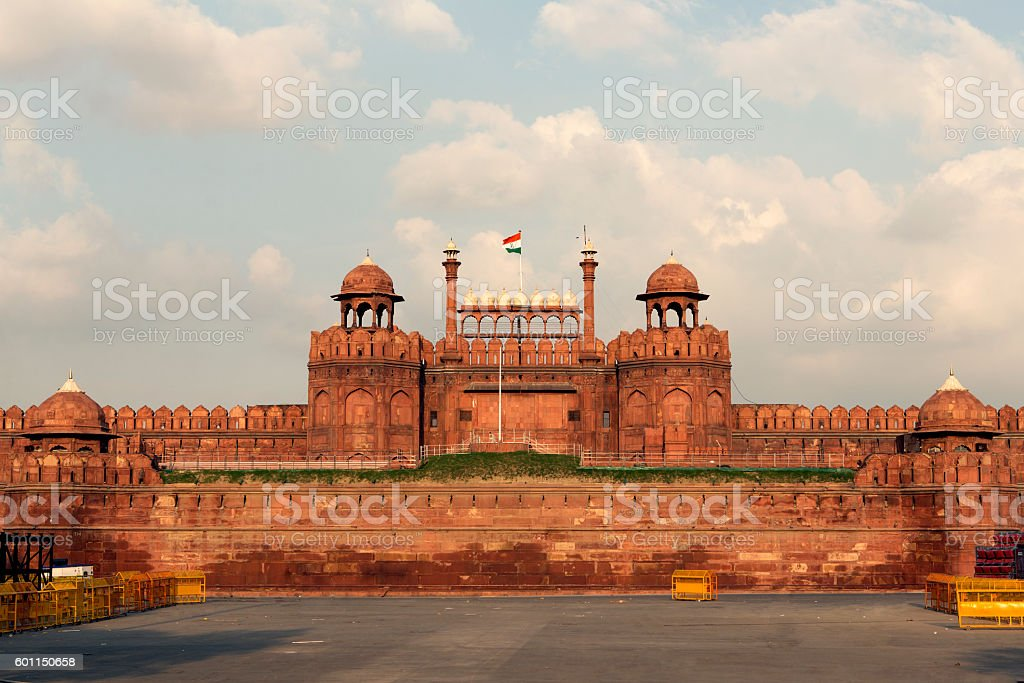 Red Fort in Delhi India stock photo