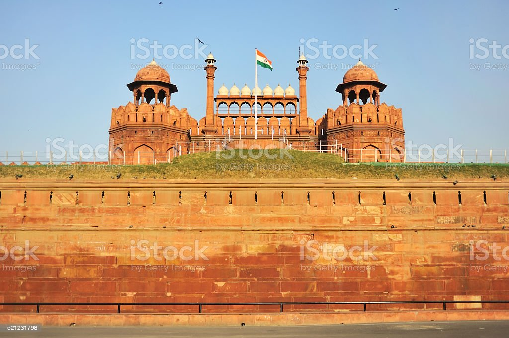 red fort in New Delhi stock photo