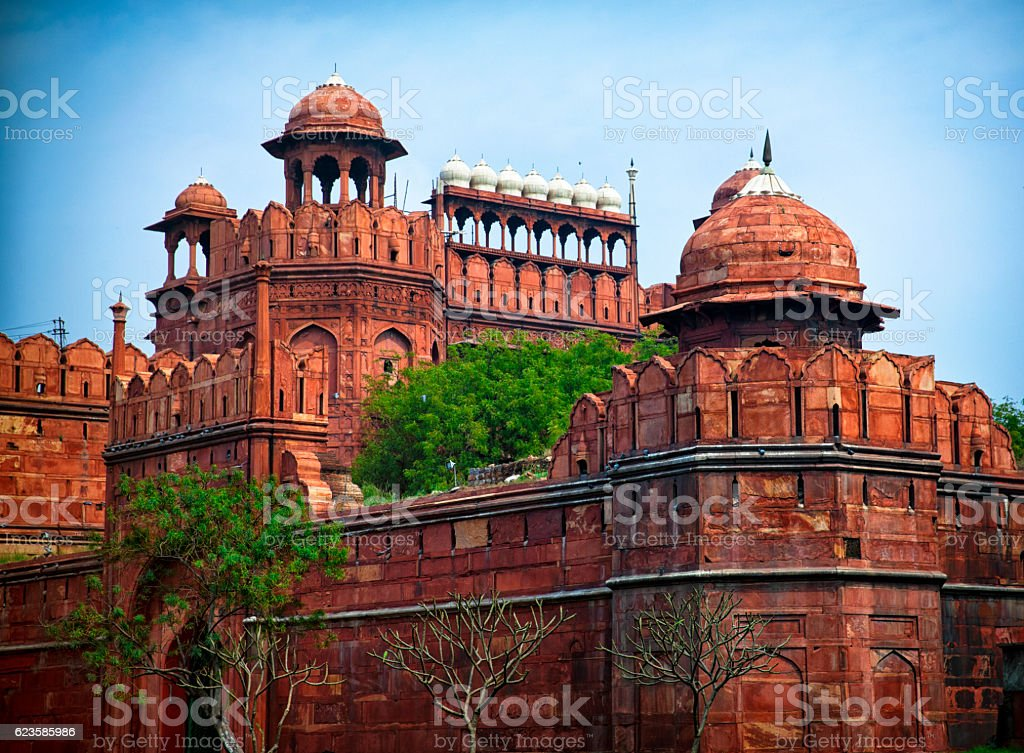 Red Fort Lal Qila. Delhi, India stock photo