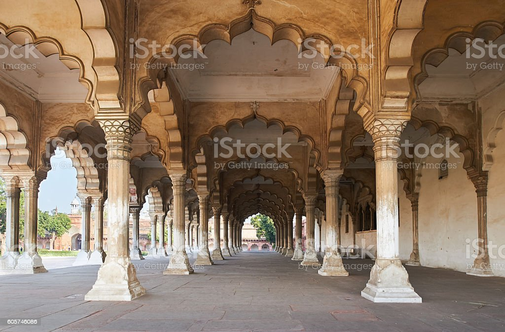 Red Fort  located in Agra, India. stock photo
