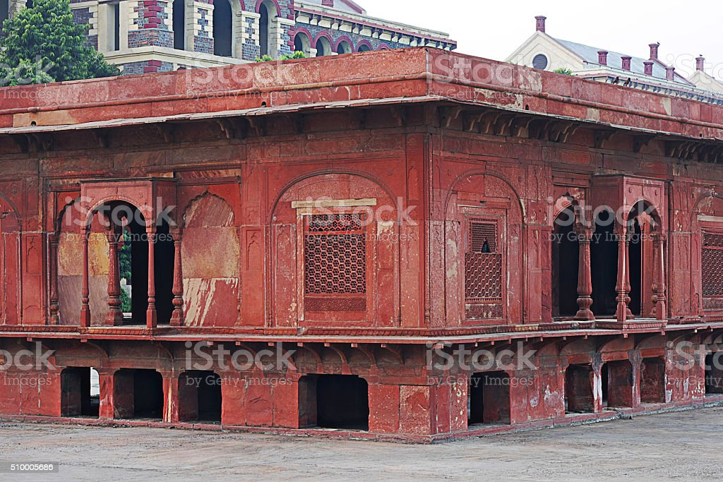 Red fort Old Delhi/India stock photo