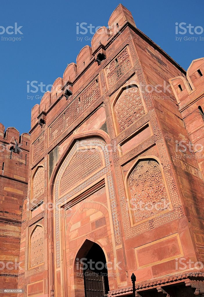Red Fort (Lal Qila) - World Heritage Site. Delhi, India stock photo