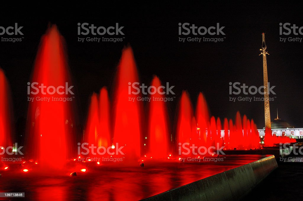 red fountain royalty-free stock photo