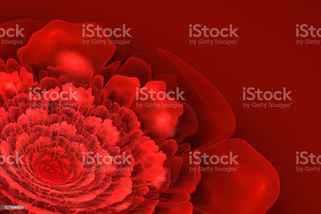 Red Fractal Blossom stock photo