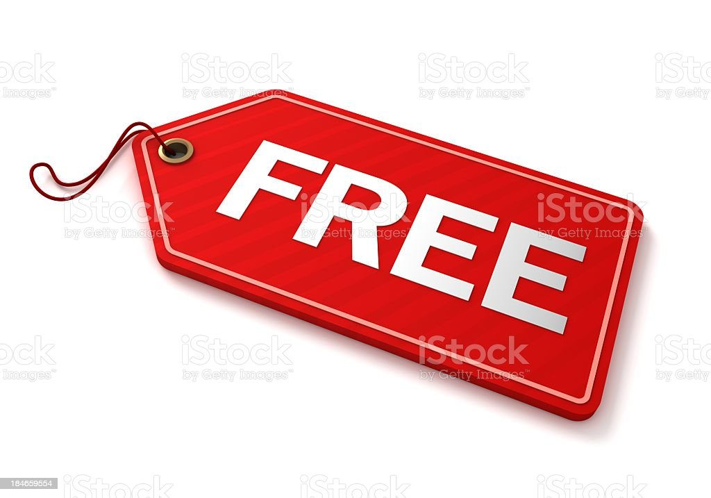red free tag royalty-free stock photo