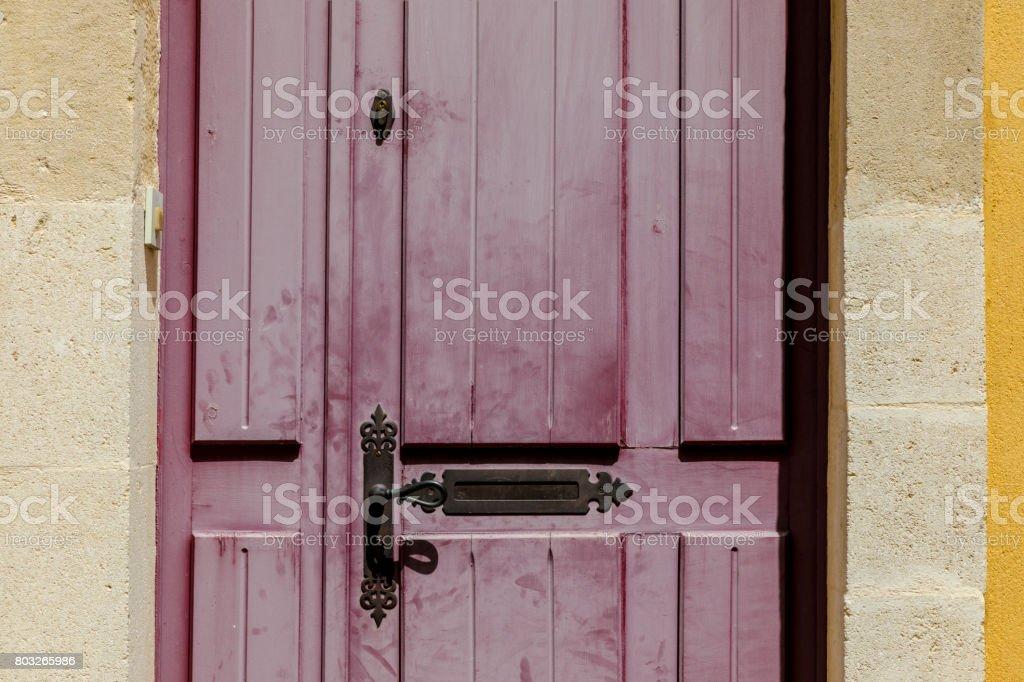 Red french door stock photo