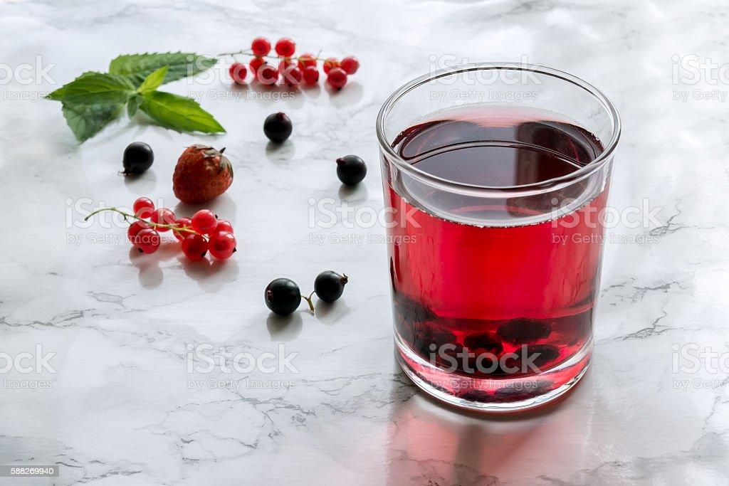 Red fruit drink foto de stock royalty-free