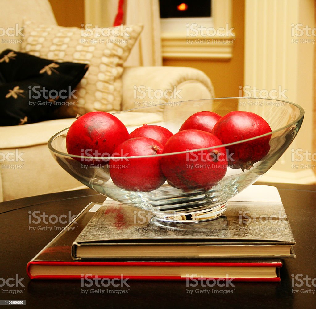 red fruit in glass bowl royalty-free stock photo