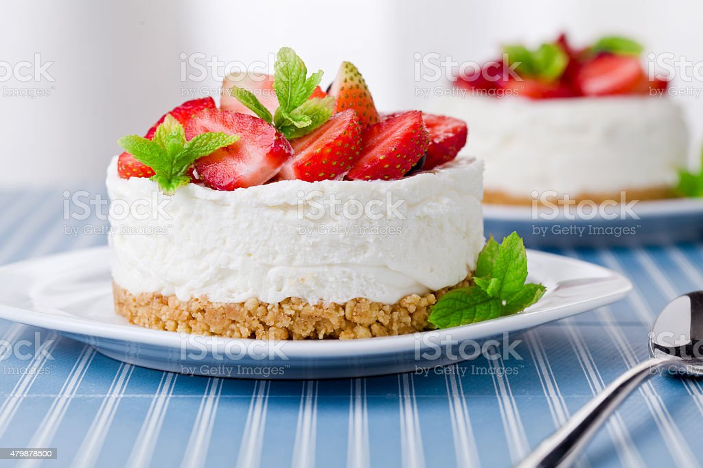 Red Fruits Cheesecake stock photo