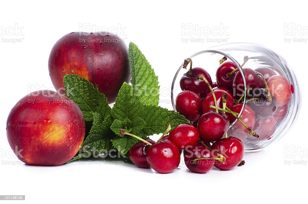 Red fruits set royalty-free stock photo