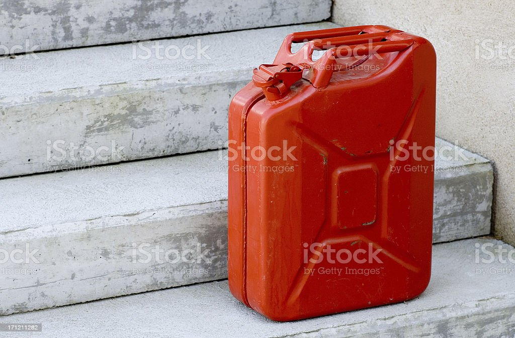 Red fuel tank royalty-free stock photo
