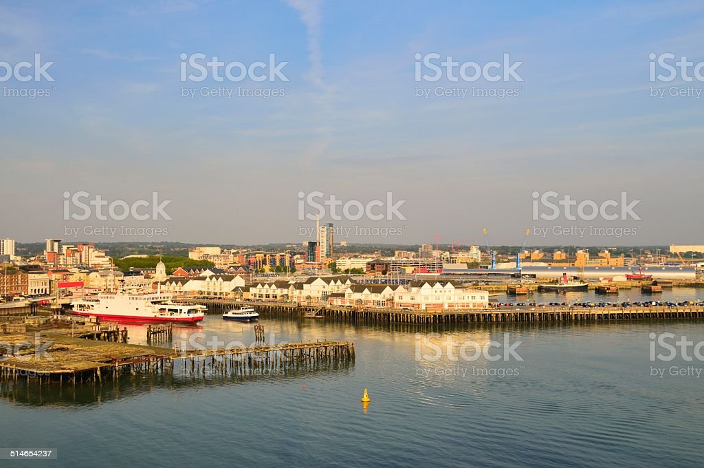 Red Funnel Isle of Wight Ferry Terminal stock photo