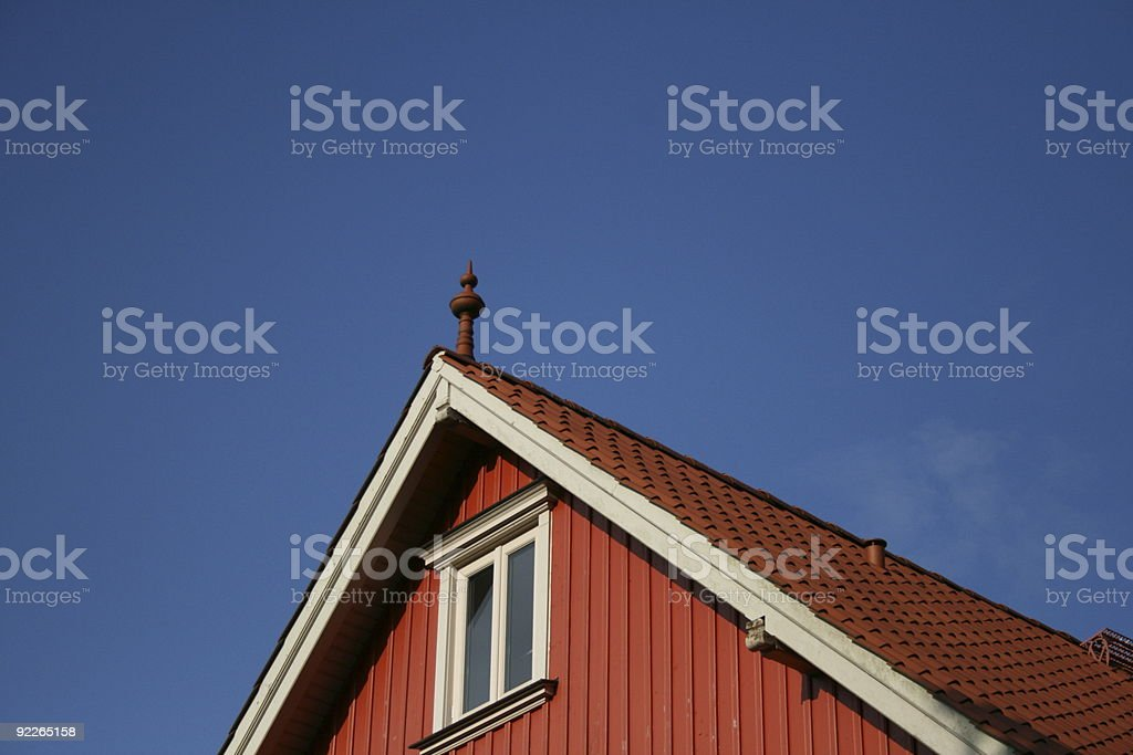 Roter Giebel stock photo