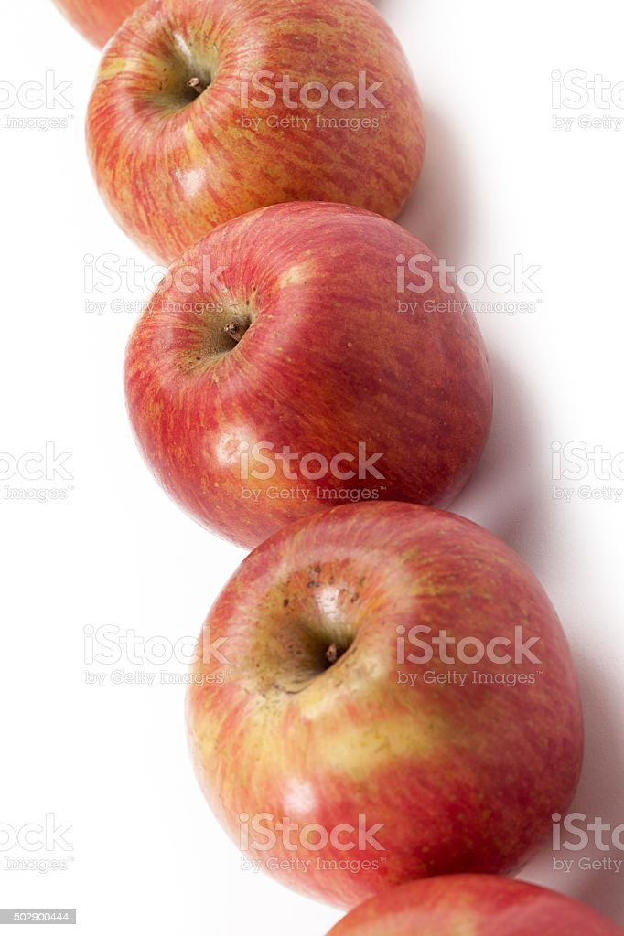 red gala apples stock photo
