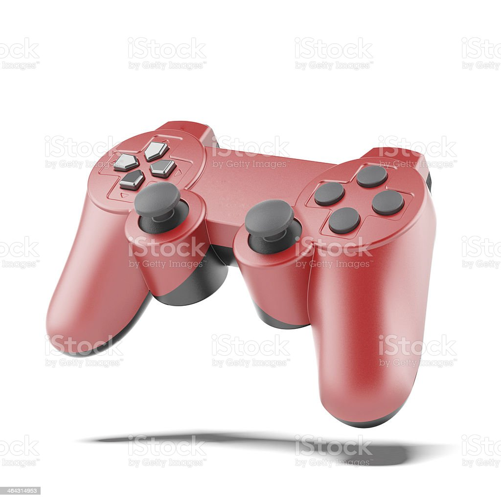 red game controller stock photo