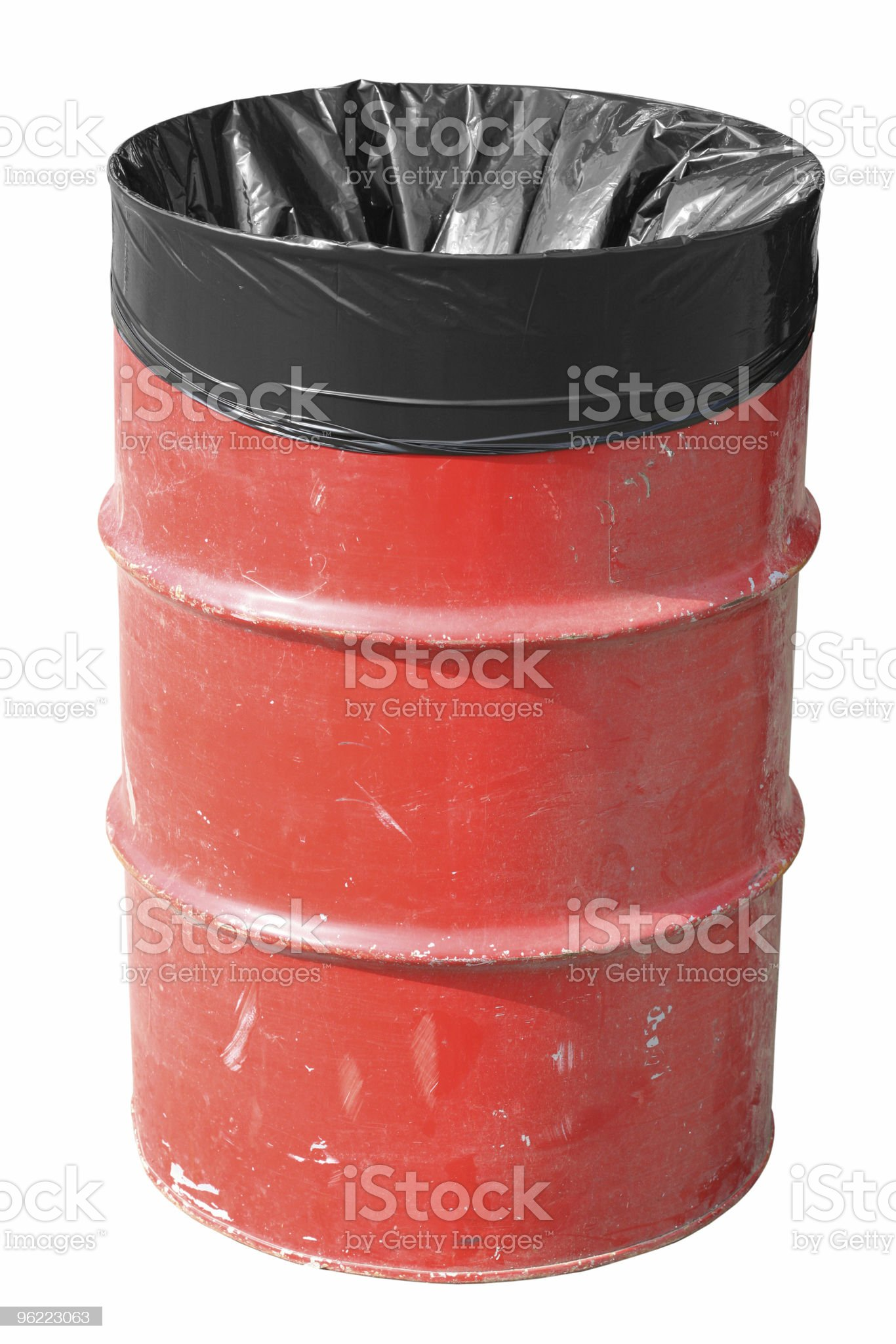 red Garbage Can royalty-free stock photo