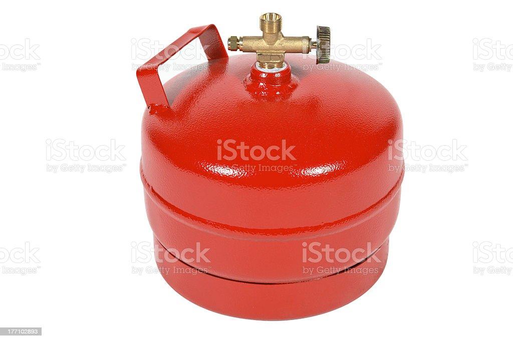 Red gas balloon stock photo