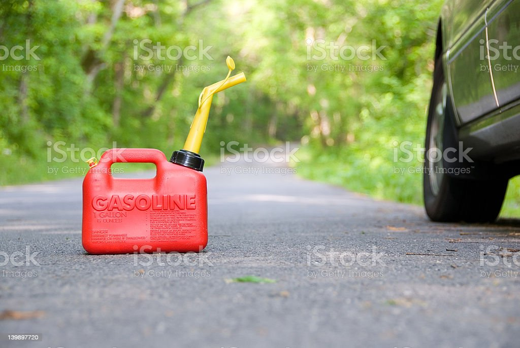 Red Gas Can stock photo