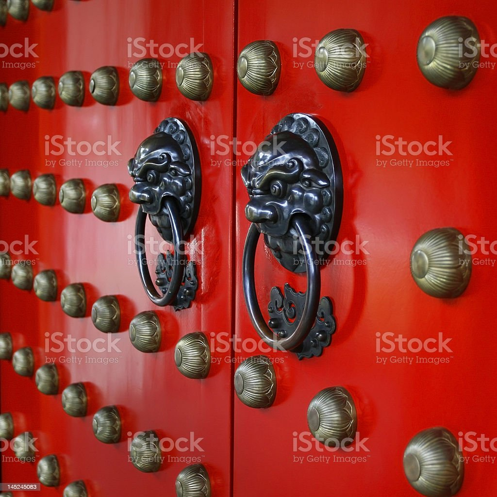 Red Gate royalty-free stock photo