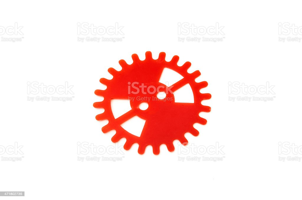 red gear royalty-free stock photo