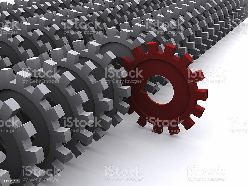 red gear stands out royalty-free stock photo