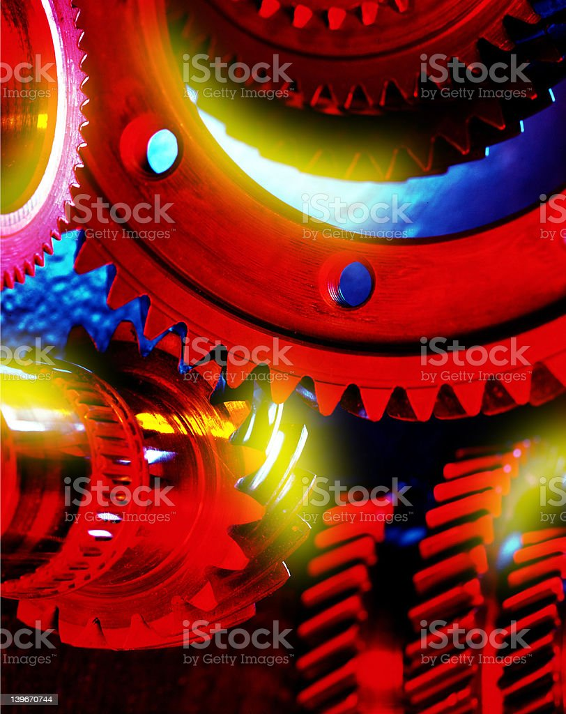red gears stock photo