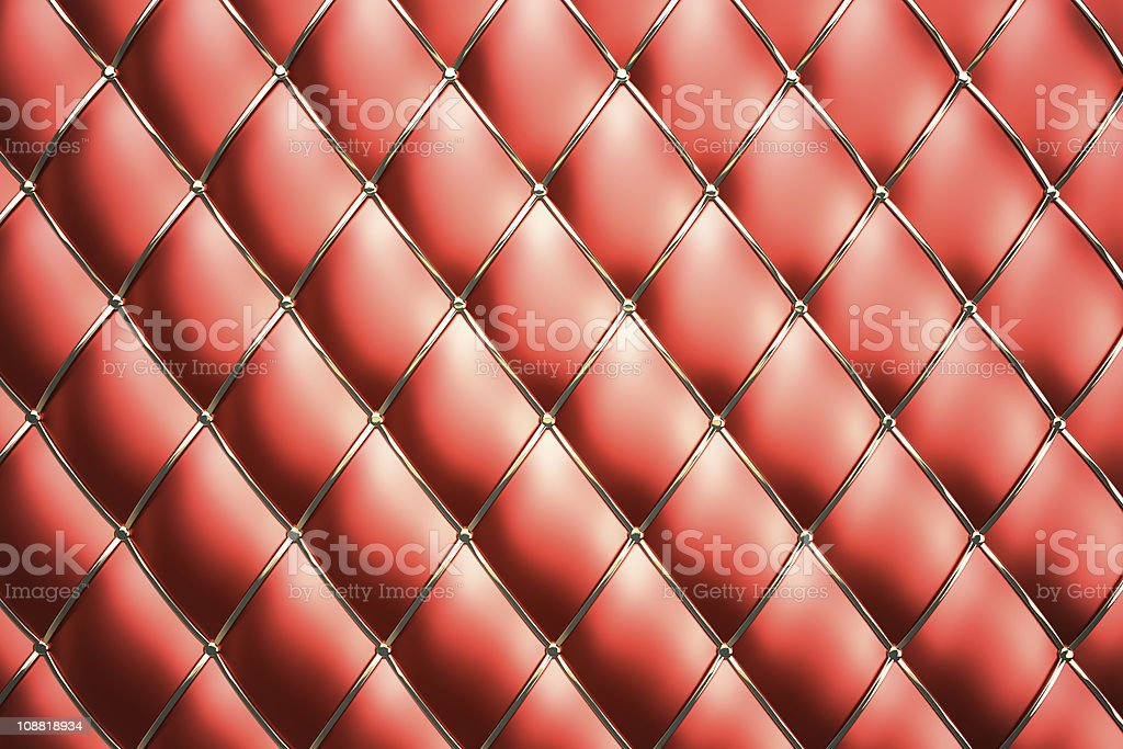 Red genuine leather pattern background stock photo