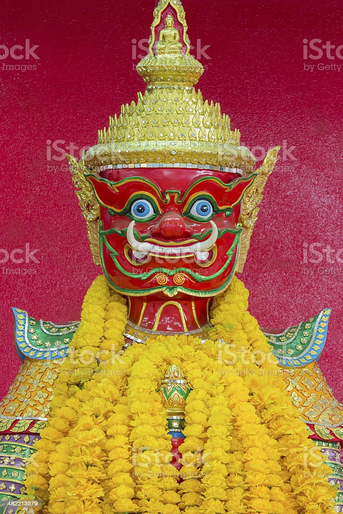 Red Giant of Thailand with Red Background stock photo