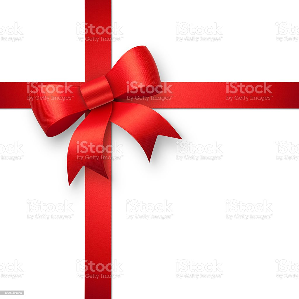 Red gift bow royalty-free stock photo