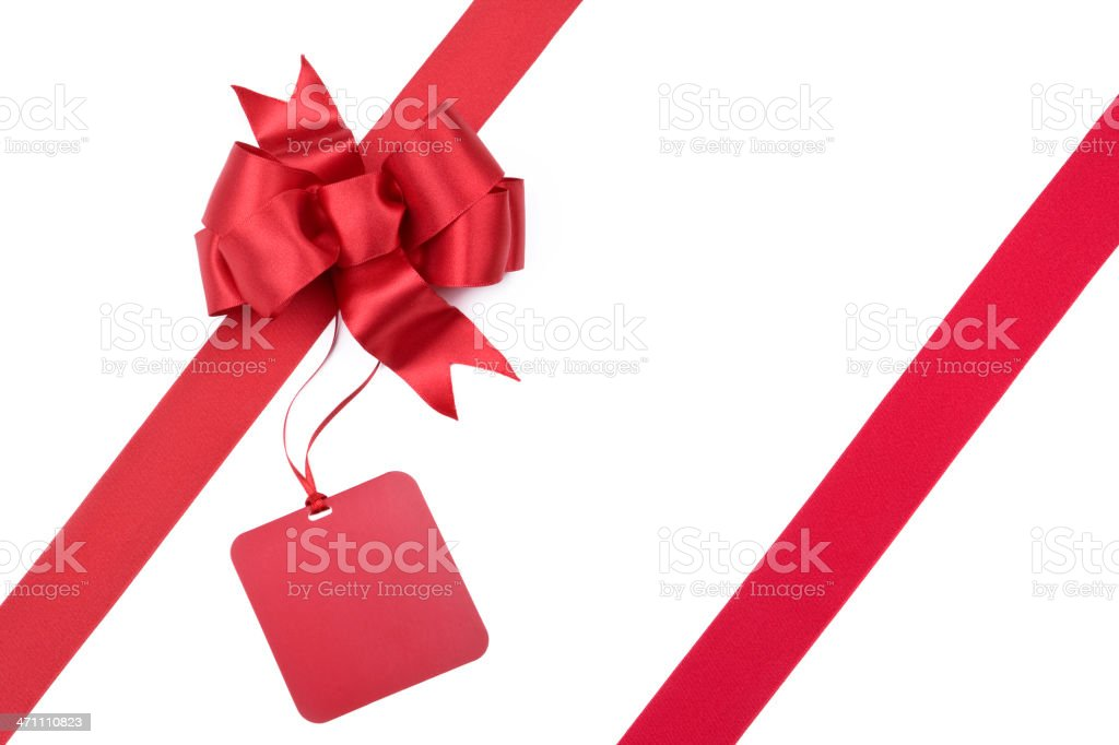 Red Gift Bow (XXL) royalty-free stock photo