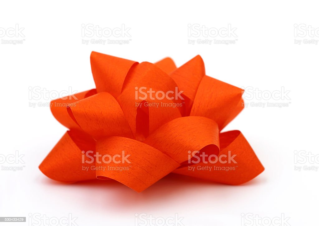Red gift Bow stock photo