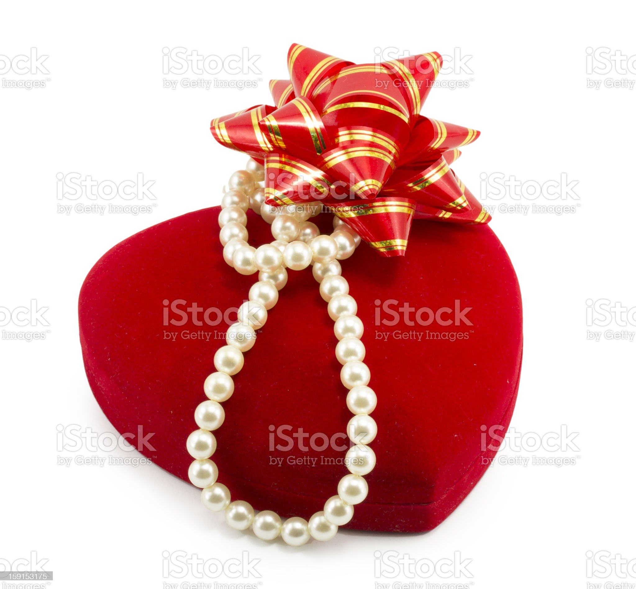 red gift box for jewelry royalty-free stock photo