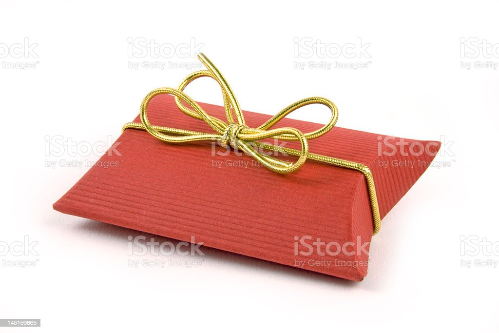 Red gift box royalty-free stock photo