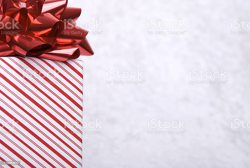 Red Gift Copy Space Horizontal royalty-free stock photo