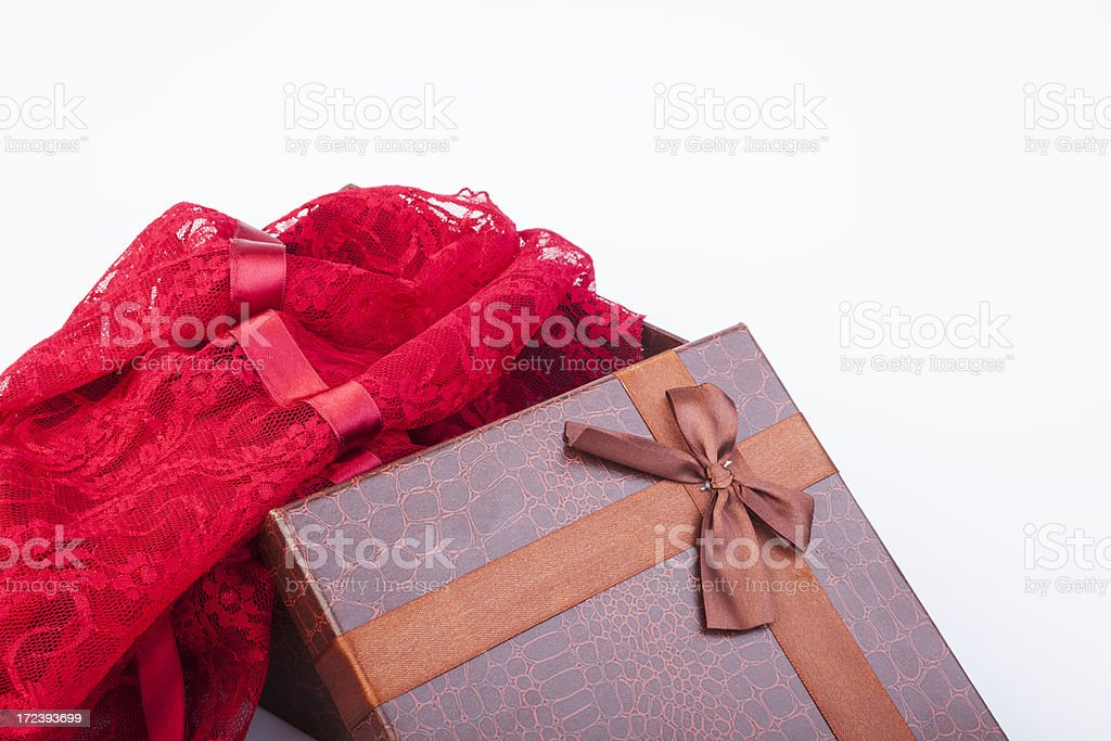 Red gift. royalty-free stock photo