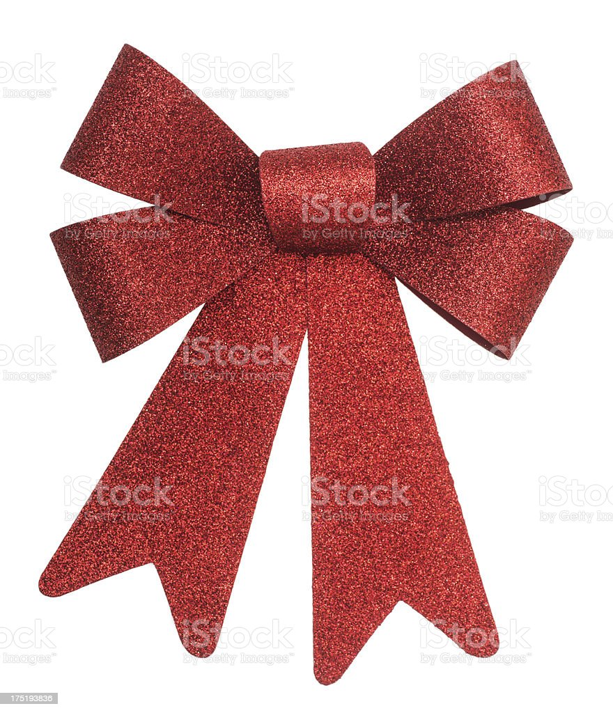 red gift ribbon award - rote Schleife stock photo