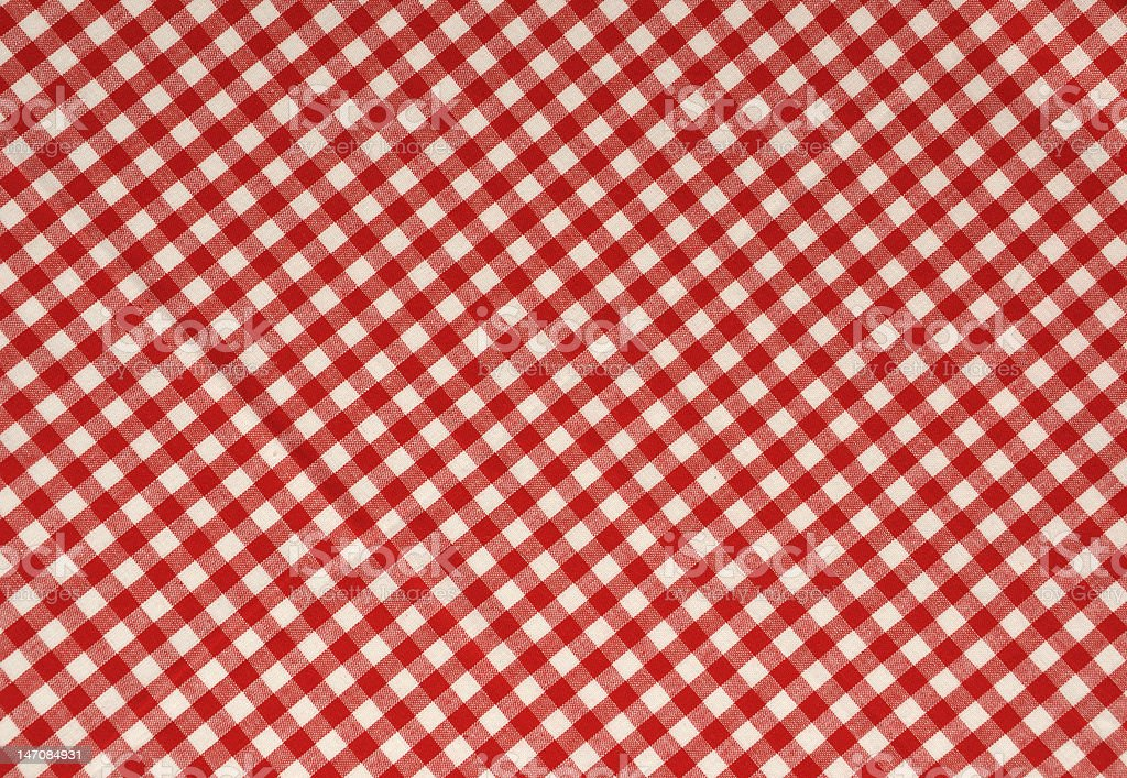 Red Gingham Background stock photo
