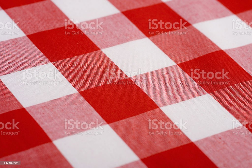 Red Gingham Background royalty-free stock photo