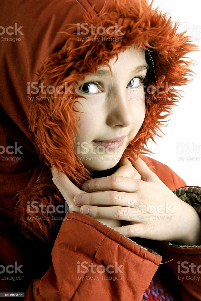 red girl stock photo
