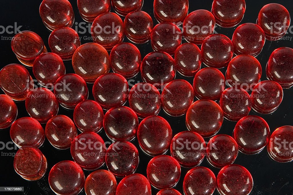 Red glass drops stock photo