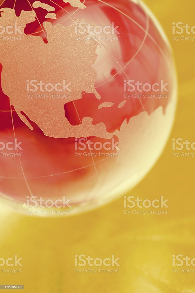 Red glass globe royalty-free stock photo