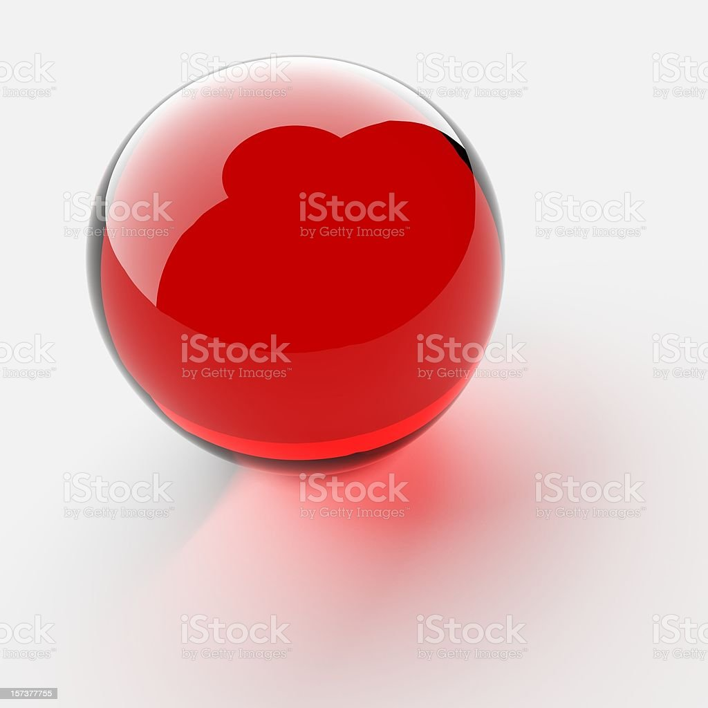 Red Glass Sphere stock photo