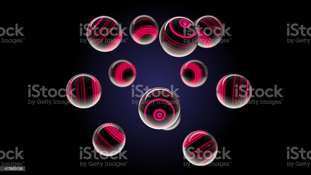 Red glass spheres stock photo