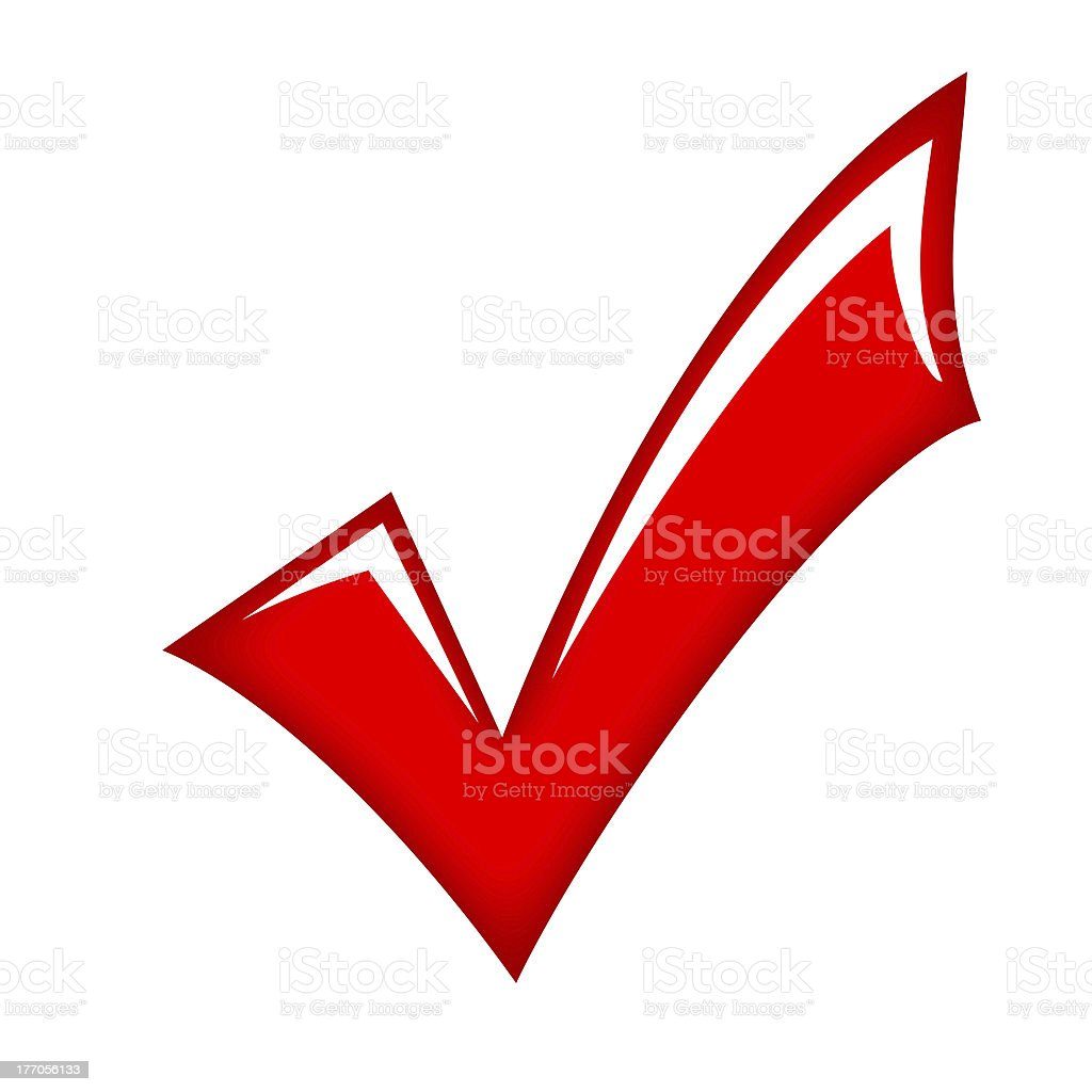 Red glass tick stock photo