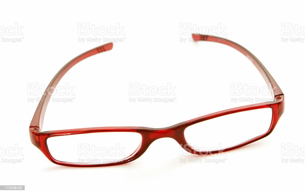 Red Glasses On White royalty-free stock photo