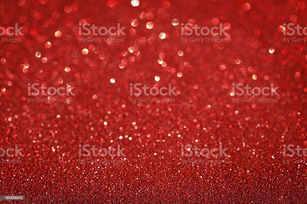 Red Glitter Christmas Background royalty-free stock photo