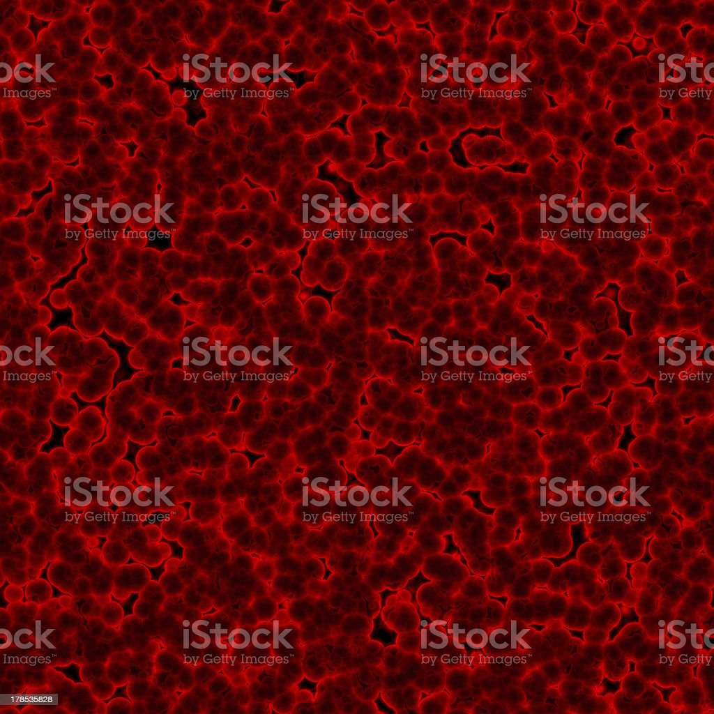 Red globules (Seamless texture) stock photo