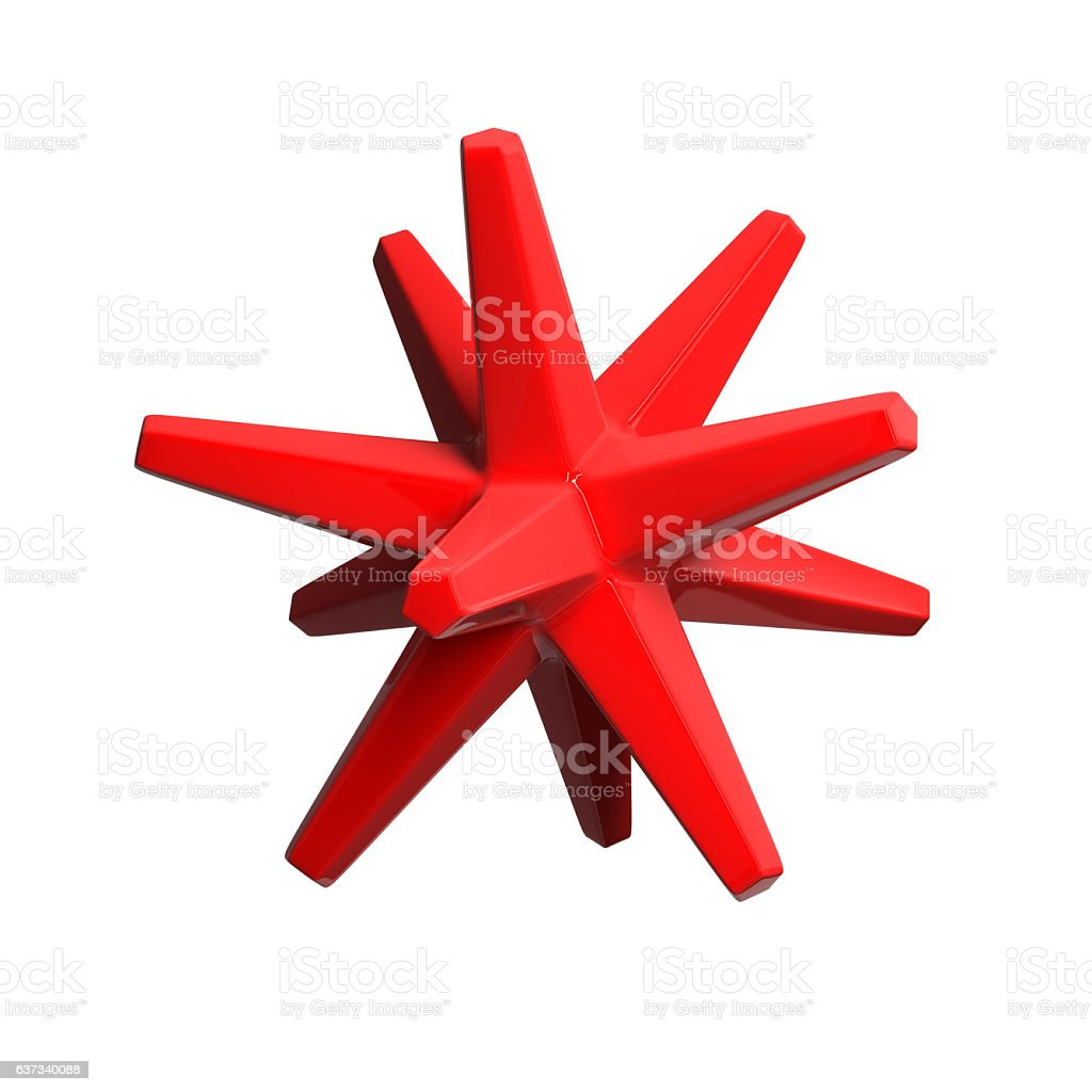 Red glossy object stock photo