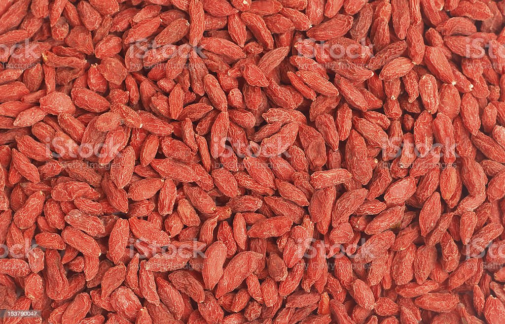 Red goji berries background royalty-free stock photo